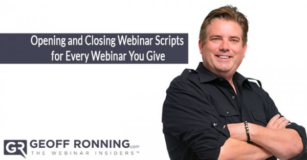 Opening and Closing Webinar Scripts