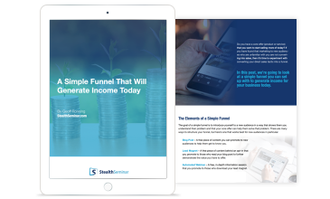 simple funnel that will generate income
