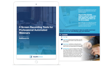 screen recording tools for professional automated webinars