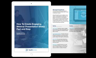 creating webinar presentation slides