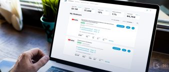 laptop screen showing webinar conversion rate