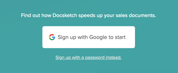 Sign-up DocSketch