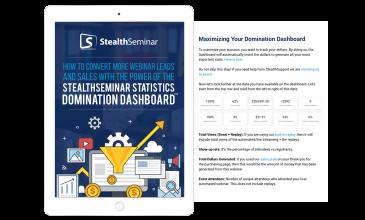 StealthSeminar statistics domination dashboard