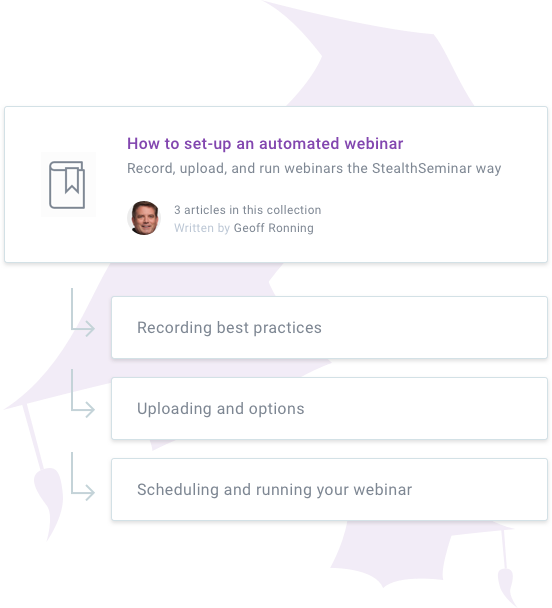 setting up an automated webinar